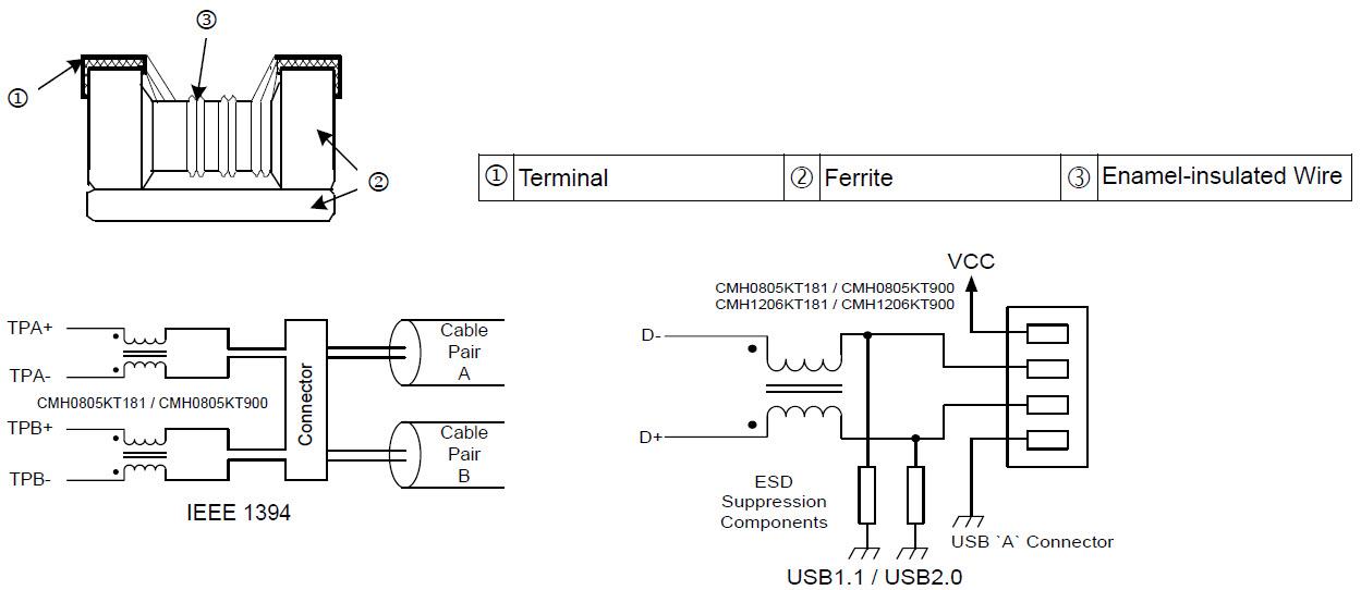 viking c 1000b wiring diagram for common mode filter  cm series  manufacturers viking  common mode filter  cm series